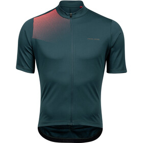 PEARL iZUMi Tour Maillot Manches courtes Homme, pine/atomic red transform